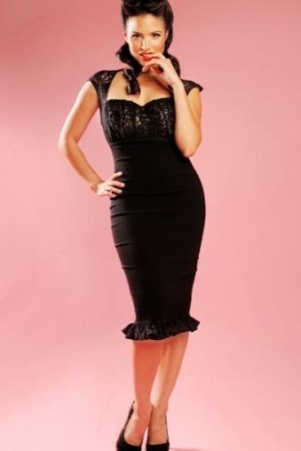 Micheline Dress Lace Black Pinup Couture